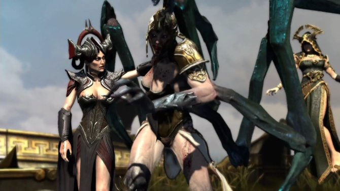 The second God of War game starring three female antagonists.